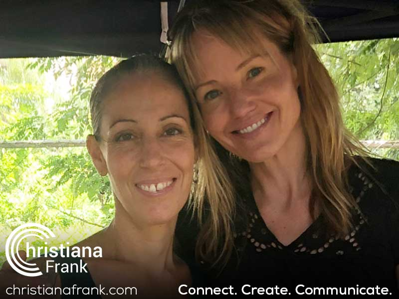 Deliberate engagement with Christiana and a lady we met in Costa Rica